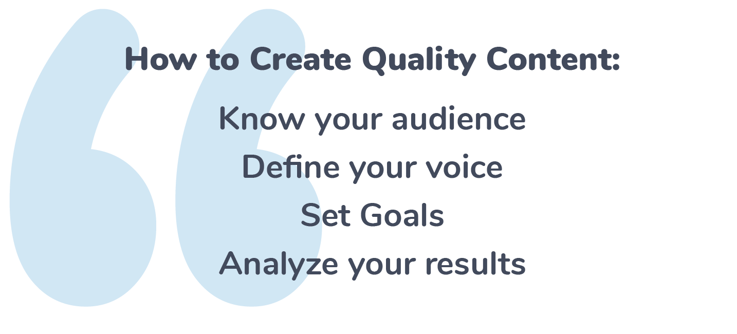 Create Quality Online Content
