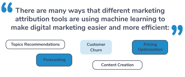Types of Machine Learning in Marketing Attribution