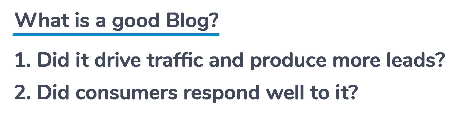 What makes a good blog