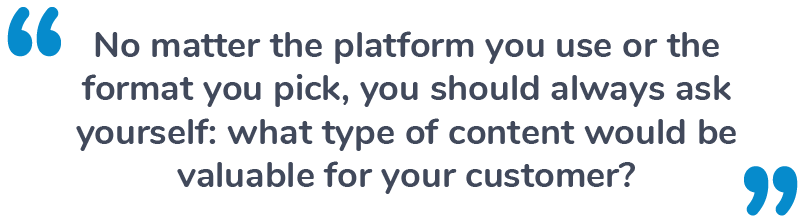 Platform Types for Content Marketing