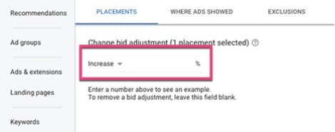 Increase or decrease bids