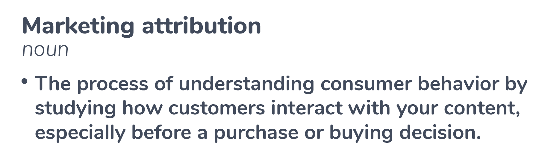 Marketing Attribution Definition