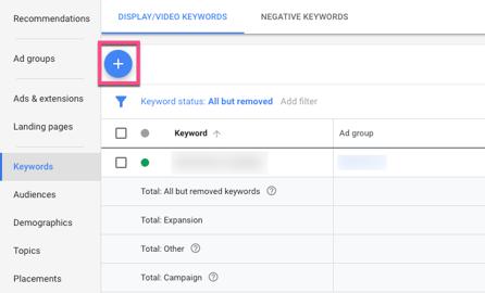 Edit Keywords