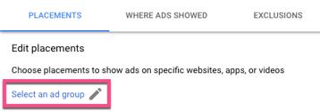 Select Ad Group