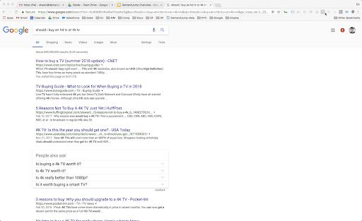 TV search screenshot