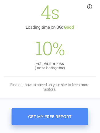 Site Speed Report to improve landing page experience
