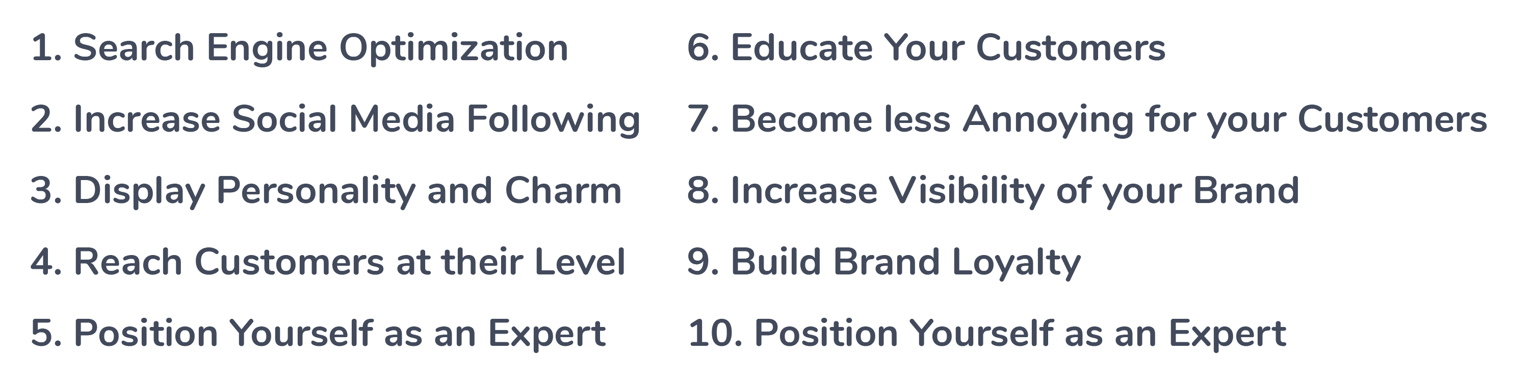 What are the Top Ten Benefits of Content Marketing?