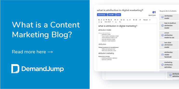 What is a content marketing blog?