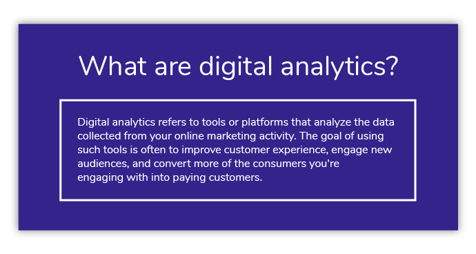 What are digital analytics?