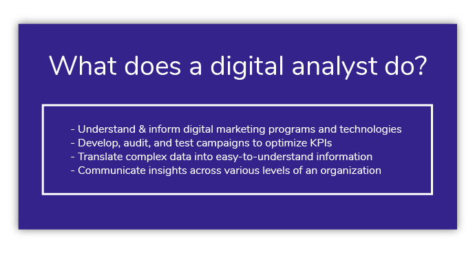 What does a digital analyst do?